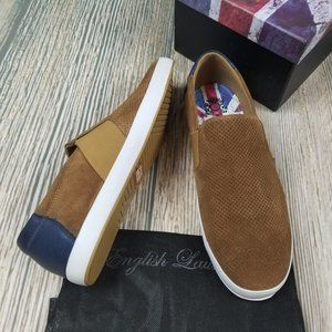 New ENGLISH LAUNDRY suede perforated sneakers